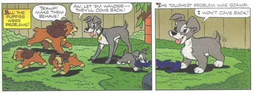 Scamp, Lady and Tramp Comic