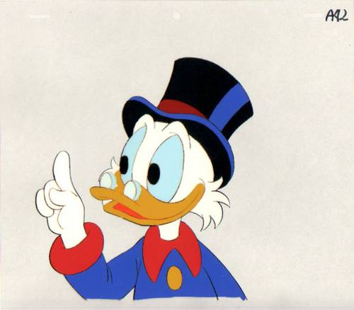 Scrooge McDuck Production Cel