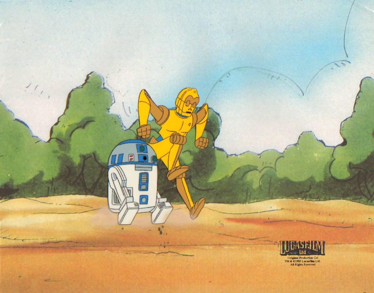 별, 스타 Wars Droids Animated Production cel