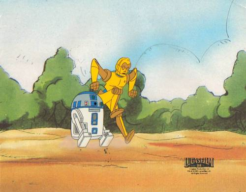 bituin Wars Droids Animated Production cel