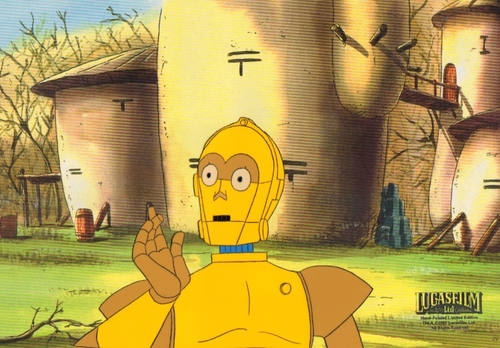 سٹار, ستارہ Wars Droids Animated Production cel