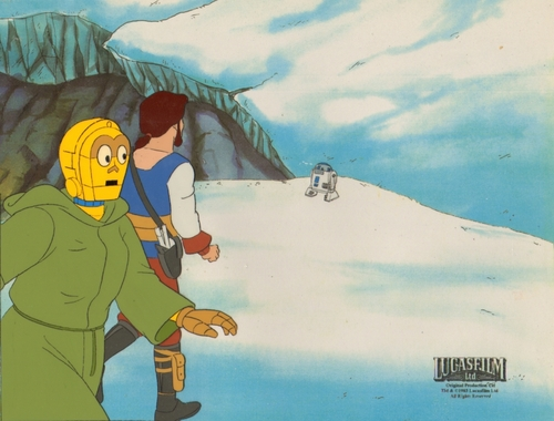 estrella Wars Droids Animated Production cel