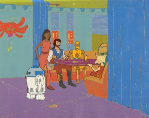 ster Wars Droids Animated Production cel