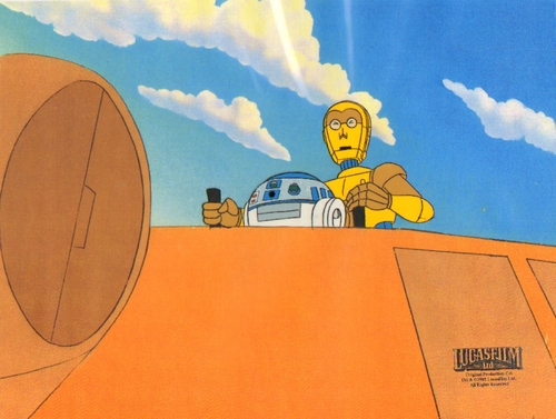 estrela Wars Droids Animated Production cel