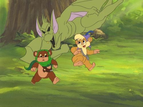 ngôi sao Wars Ewoks Animated Cels