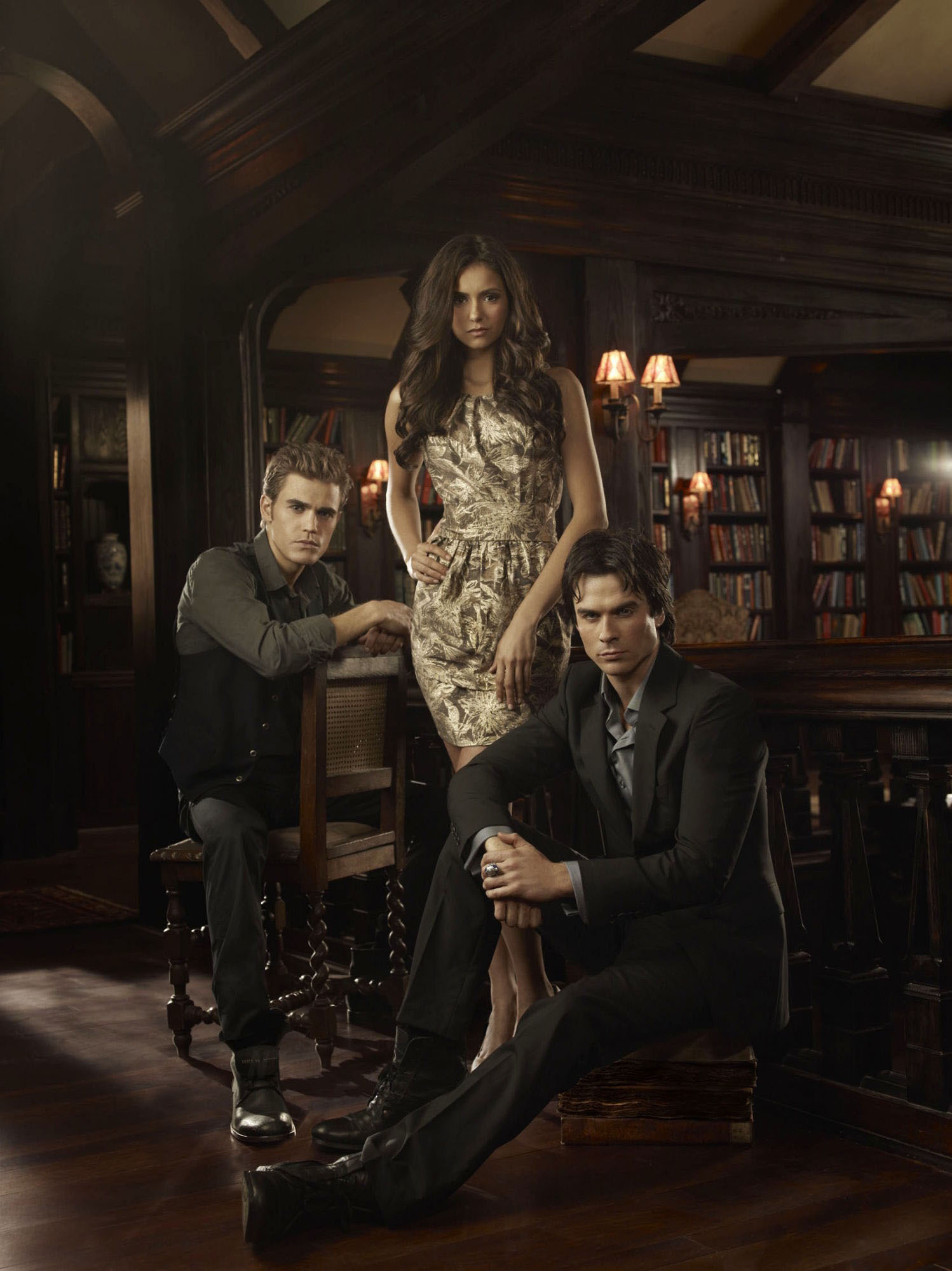 Stefan,Elena & Damon - The Vampire Diaries Saga Fan Art ...