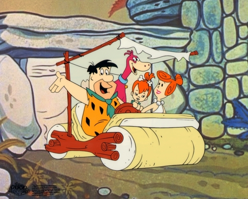 The Flintstones اندازی حرکت Sericel cel