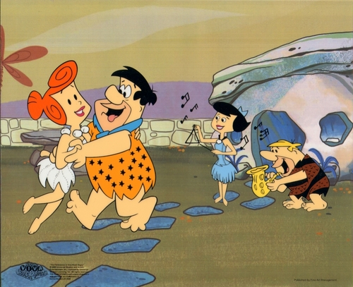 The Flintstones 애니메이션 Sericel cel