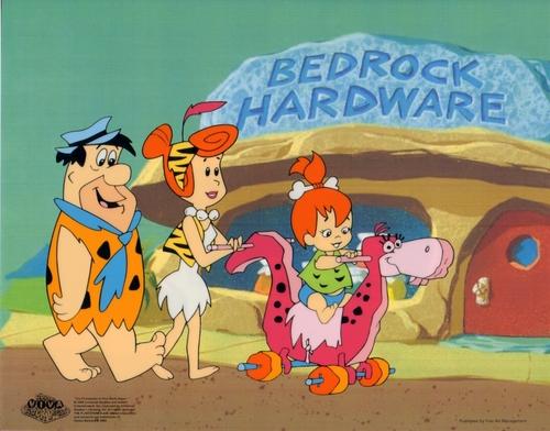 The Flintstones 애니메이션 Sericel cel