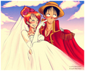 The King and Queen - luffyxnami photo