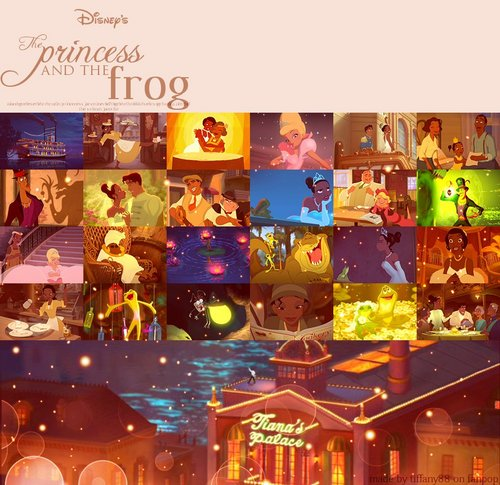 Disney Princess karatasi la kupamba ukuta entitled The Princess and the frog