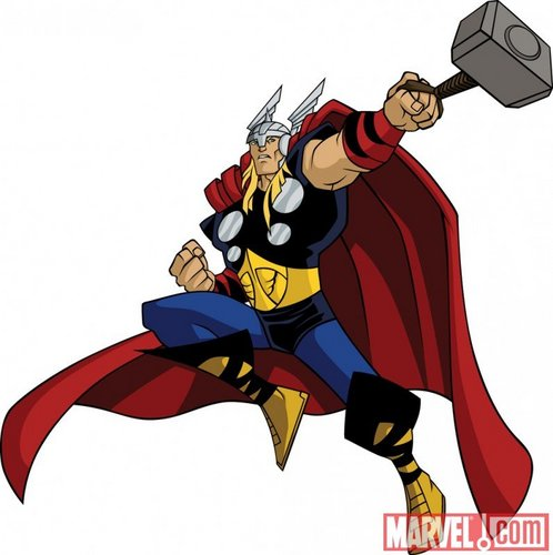 Avengers: Earth's Mightiest Герои Обои called Thor in action