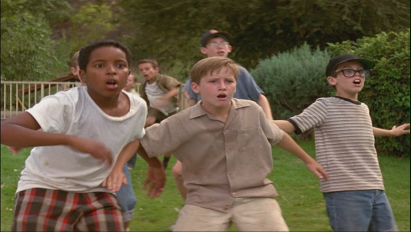 the sandlot movie Beyond the fence at the back of the sandlot, menaces a legendary ball-eating dog called the beast, and the kids inevitably must deal with him directed by: david m evans.