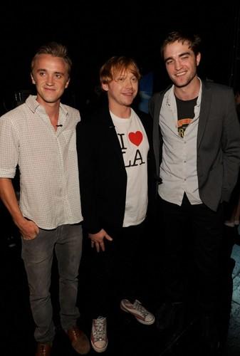Tom, Rupert and Robert Pattinson at the 2011 Teen Choice Awards