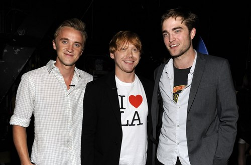 Tom, Rupert and Robert Pattinson at the 2011 Teen Choice Awards