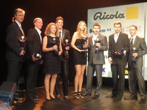 Tomas Berdych,Petra Kvitova and Adam Pavlasek 2010 in Golden Canar