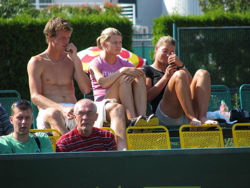 Tomáš Berdych, Lucie Šafářová & Petra Cetkovská in Enjoying Spectating