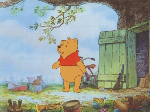 O Ursinho Puff wallpaper entitled Winnie the Pooh Production Cel