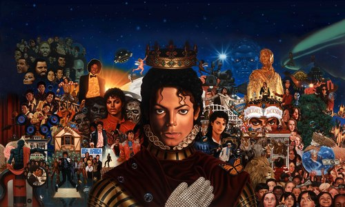 all mj's albums in one picture