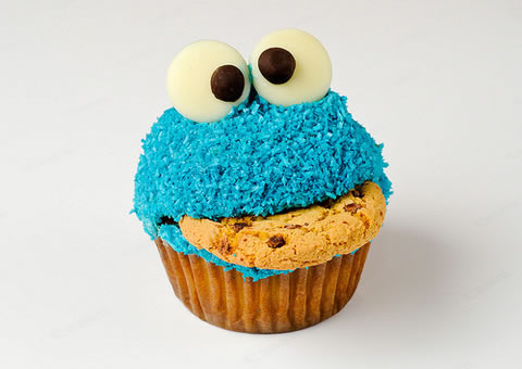 cookie monster कप केक