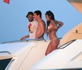 dani alves,messi and antonella in ibiza - lionel-andres-messi photo