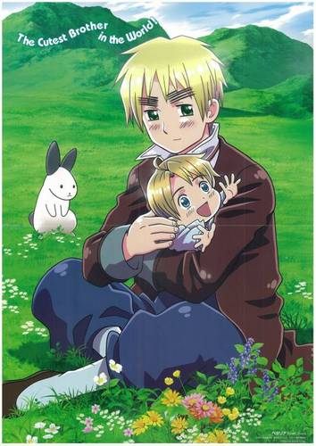 Hetalia wallpaper containing anime titled england/united kingdom & little america
