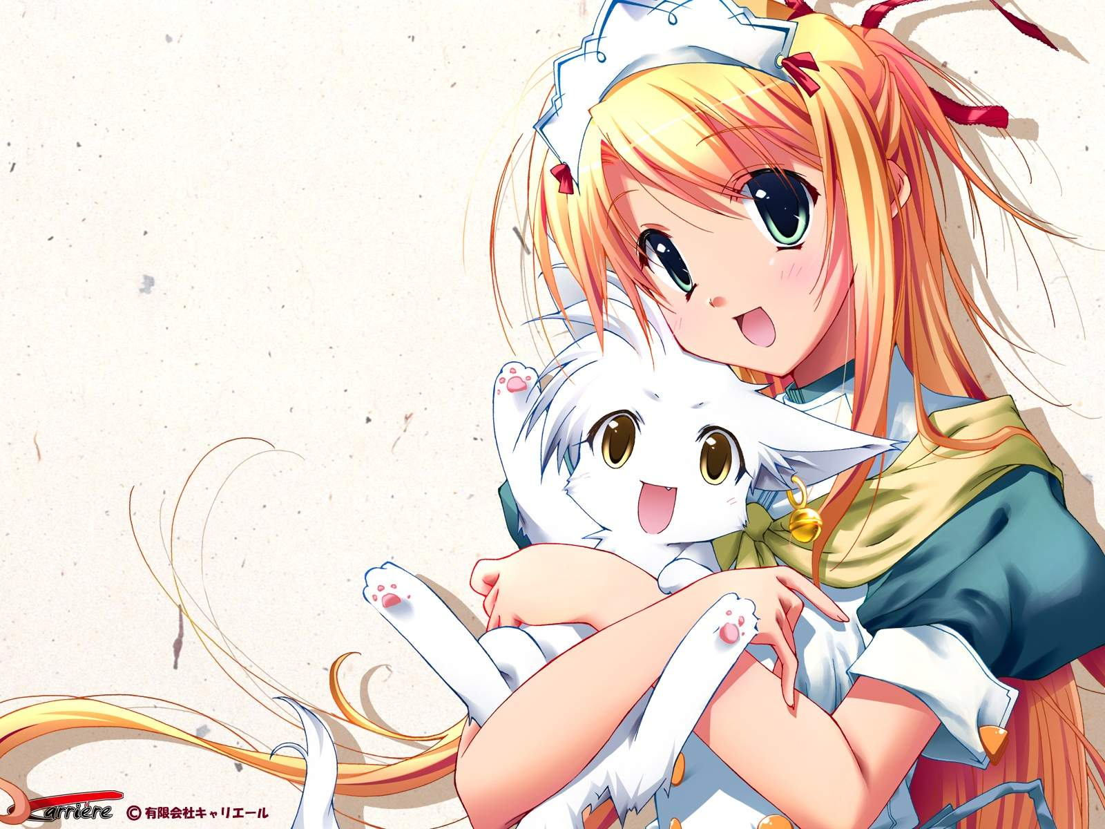 Girl with cat anime photo 24460741 fanpop - Anime kitty girl ...