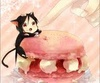 Sebastian Michaelis photo probably containing a cupcake and a frosted layer cake titled kawaii!!!