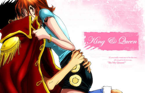 nami s'embrasser the king