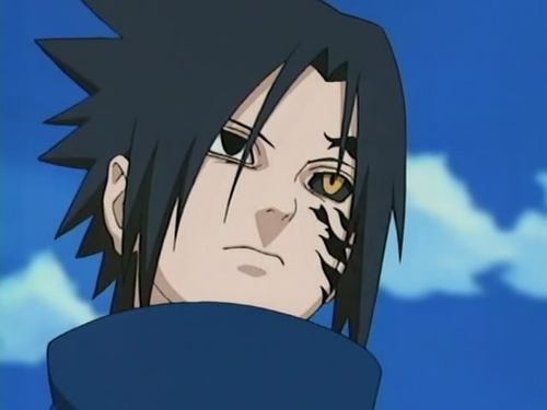 sasuke the demon half transformation