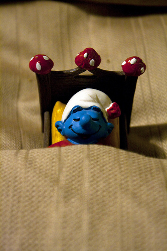 sleepy smurf