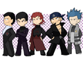 team leaders chibi - pokemon-villians fan art
