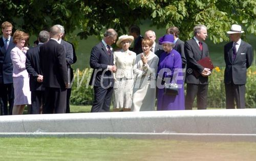 the opening of the fountain built in memory of Diana, Princess of Wales, in London's Hyde Park