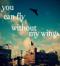 u can fly without my wings