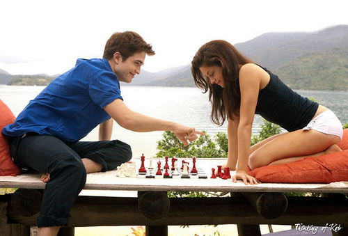Edward e Bella wallpaper probably with a lunch and a sign entitled 'Breaking Dawn: Part 1 Stills UNTAGGED