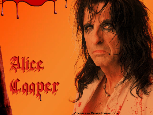 Alice Cooper wallpaper with a portrait titled Alice Cooper (7a)