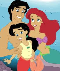 Ariel and Eric wallpaper containing anime entitled Ariel, Melody and Eric