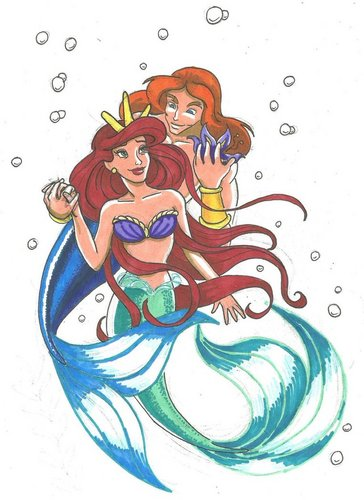 Ariel and Eric wallpaper called Ariel's parents Triton and Athena