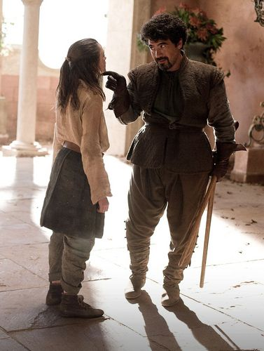 Arya Stark and Syrio Forel