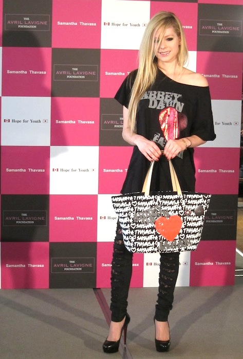Avril Lavigne at a Special Press Conference in Tokyo
