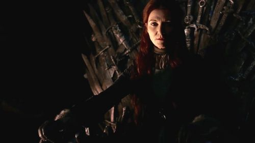 Catelyn Stark on trono