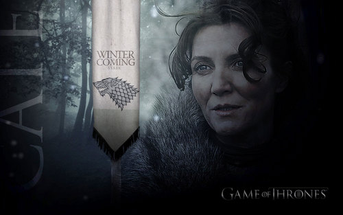 House Stark wallpaper possibly with a sign called Catelyn Stark wallpaper