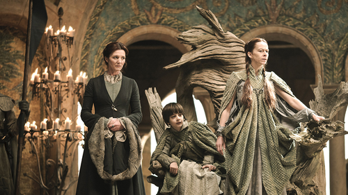 Catelyn Stark with Lysa and Robin Arryn