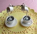 Coffee with Cream Earrings - coffee fan art