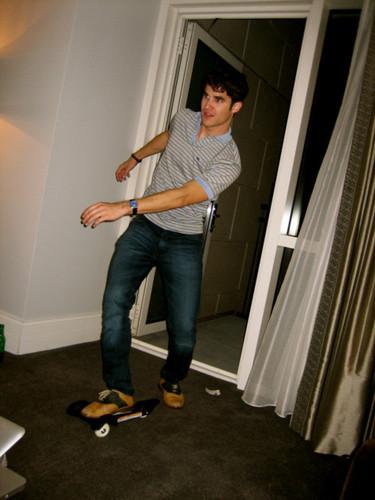 Darren on skateboard