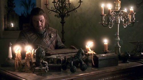 House Stark wallpaper with a candle called Eddard Stark