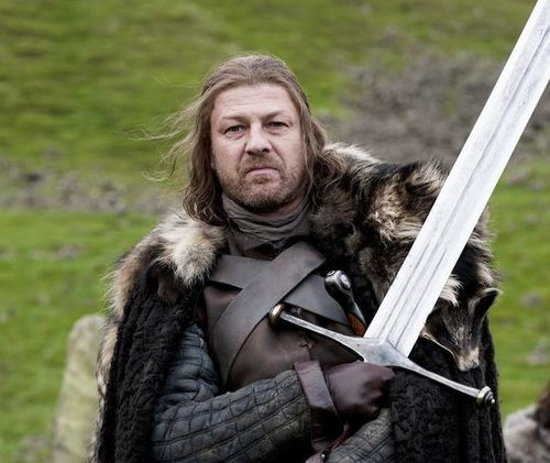 Eddard Stark with Ice