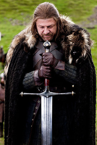 House Stark wallpaper containing a fur coat, a mink, and a fur entitled Eddard Stark with Ice