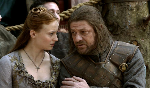 Eddard and Sansa Stark