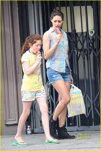 "Emmy and Emma Kenney shoot season 2 of ""Shameless"" - August 8, 2011"